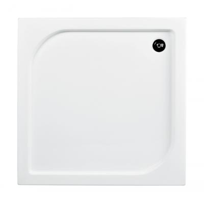 Besco Oskar brodzik kwadratowy 90 cm biały #BAO-90-PK