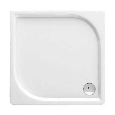 Deante Cubic brodzik kwadratowy 80 cm biały KTK042B