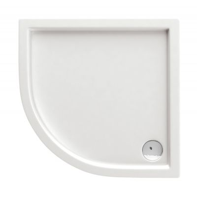 Deante Minimal brodzik półokrągły 80 cm biały KTN054B
