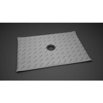 Radaway płyta prysznicowa prostokątna 119x89 cm z kratką odpływową 5DK1209, 5K01, 5SK1