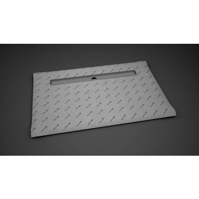 Radaway Basic płyta prysznicowa 89x79 cm prostokątna z odpływem liniowym na dłuższym boku 5DLA0908A, 5R065B, 5SL1