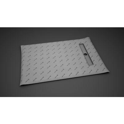 Radaway Basic płyta prysznicowa 89x79 cm prostokątna z odpływem liniowym na krótszym boku 5DLB0908A, 5R055B, 5SL1