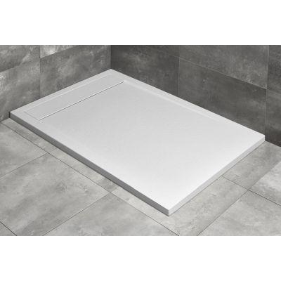 Radaway Teos F brodzik 100x70 cm konglomeratowy biały HTF10070-04