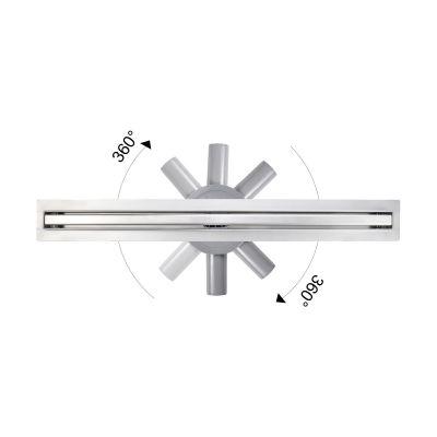 Hagser Iris Slim odpływ prysznicowy liniowy 80 cm ruszt odwracalny HGR80000030