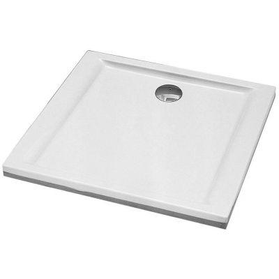 Koło Pacyfik brodzik 100 cm kwadratowy  AntiSlide biały XBK0710101