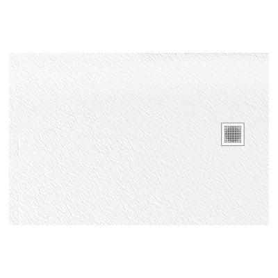 New Trendy Mori brodzik prostokątny 120x90 cm biały B-0436