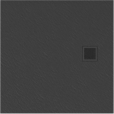 New Trendy Mori brodzik kwadratowy 90 cm szary B-0395