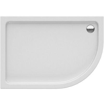 New Trendy New Maxima brodzik półokrągły 100x80 cm asymetryczny lewy biały B-0374