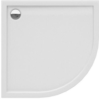 New Trendy Cantare New brodzik 90x90 cm półokrągły biały B-0382