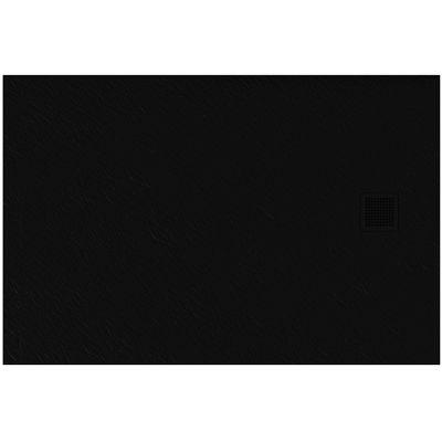 New Trendy Mori brodzik prostokątny 140x80 cm czarny B-0407