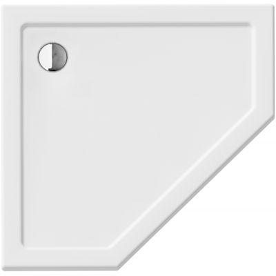 New Trendy New Azura brodzik pięciokątny biały B-0415