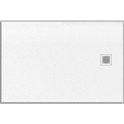 New Trendy Mori brodzik prostokątny 100x80 cm biały B-0432