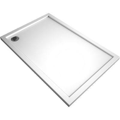 Oltens Superior brodzik prostokątny 100x80 cm akrylowy biały 15002000