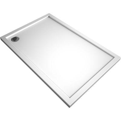 Oltens Superior brodzik prostokątny 140x80 cm akrylowy biały 15004000
