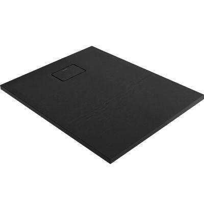 Oltens Bergytan brodzik prostokątny 100x80 cm RockSurface czarny 15100300
