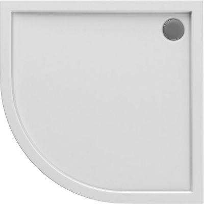 Oltens Superior brodzik półokragły 80x80 cm akrylowy biały 16001000