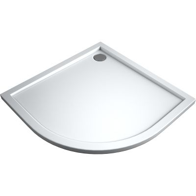 Oltens Superior brodzik półokragły 90x90 cm akrylowy biały 16002000
