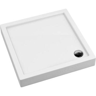 Oltens Vindel brodzik kwadratowy 80x80 cm akrylowy biały 17003000