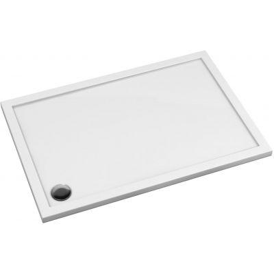 Omnires Merton brodzik prostokątny 120x70 cm biały MERTON70/120/P