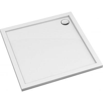 Omnires Merton brodzik kwadratowy 90 cm biały MERTON90/K