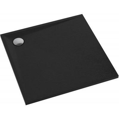 Omnires Stone brodzik kwadratowy 80 cm czarny mat STONE80/KBL