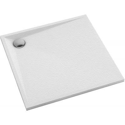 Omnires Stone brodzik kwadratowy 80 cm biały mat STONE80/KBM