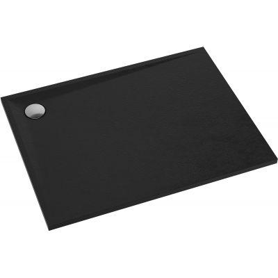 Omnires Stone brodzik prostokątny 100x90 cm czarny mat STONE90/100BL