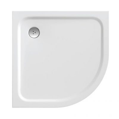 Ravak Elipso Pro Chrome brodzik półokrągły 80x80 cm biały XA244401010