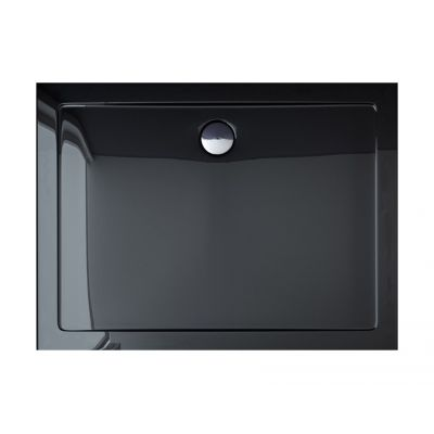 Rea Breno brodzik prostokątny 120x80 cm czarny REA-K012G