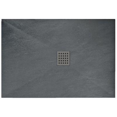 Rea Rock brodzik prostokątny 100x80 cm grey REA-K4582
