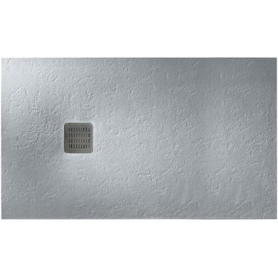 Roca Terran brodzik prostokątny 100x70 cm kompozyt Stonex szary cement AP013E82BC01300