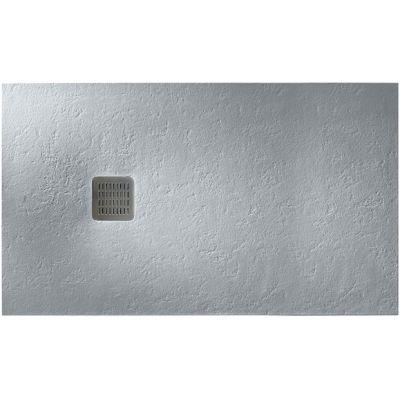 Roca Terran brodzik prostokątny 100x80 cm konglomeratowy szary cement AP013E832001300