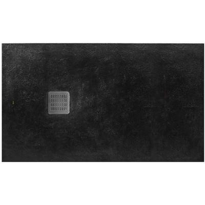 Roca Terran brodzik prostokątny 100x80 cm kompozyt Stonex czarny AP013E832001400