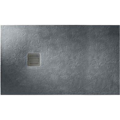 Roca Terran brodzik prostokątny 200x100 cm kompozyt Stonex szary łupek AP017D03E801200