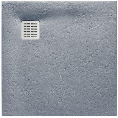 Roca Terran brodzik kwadratowy 100 cm kompozyt Stonex szary cement AP033E83E801300