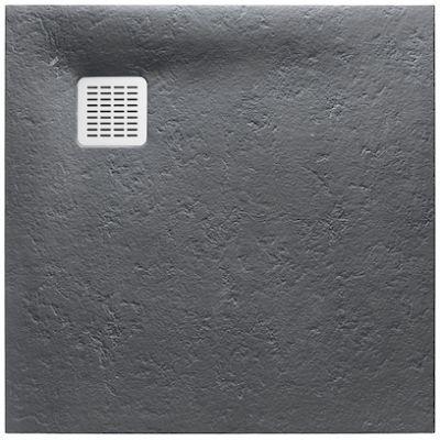 Roca Terran brodzik kwadratowy 90 cm szary łupek AP0338438401200