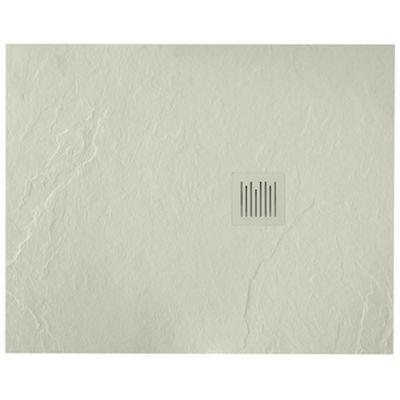 Roca Ignis brodzik prostokątny 100x80 cm kompozyt Stonex szary cement AP7013E832001300