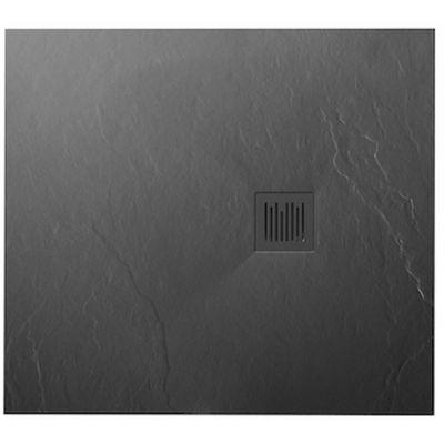 Roca Ignis brodzik prostokątny 100x90 cm kompozyt Stonex szary łupek AP7013E838401200