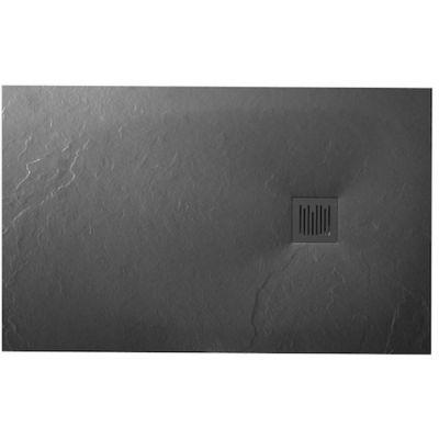 Roca Ignis brodzik prostokątny 140x80 cm kompozyt Stonex szary łupek AP70157832001200