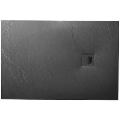 Roca Ignis brodzik prostokątny 140x90 cm kompozyt Stonex szary łupek AP70157838401200