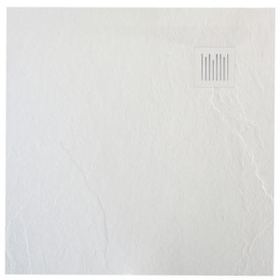 Roca Ignis brodzik kwadratowy 90 cm kompozyt Stonex biały AP70238438401100