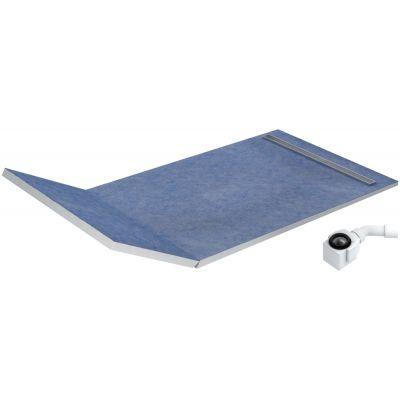 Schedpol Slim Lux brodzik podpłytkowy 130+50x80 cm Plate Slim 10.114/OLPL
