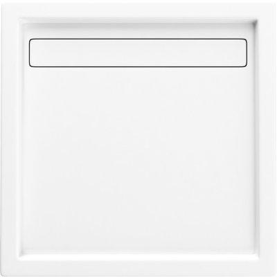 Schedpol Camparo brodzik kwadratowy 100 cm biały 3.082