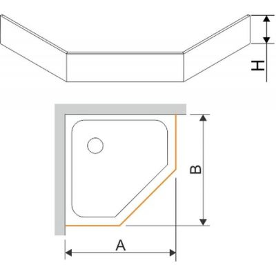 Sanplast obudowa do brodzika biała 625-400-0830-01-000