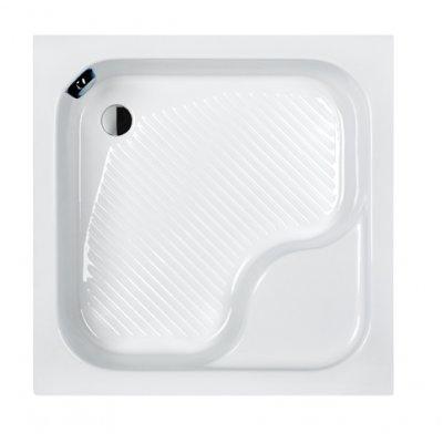 Sanplast Classic brodzik kwadratowy z siedziskiem Bzs/CL80x80x28+STB Pro Safe System 615-010-0240-01-000