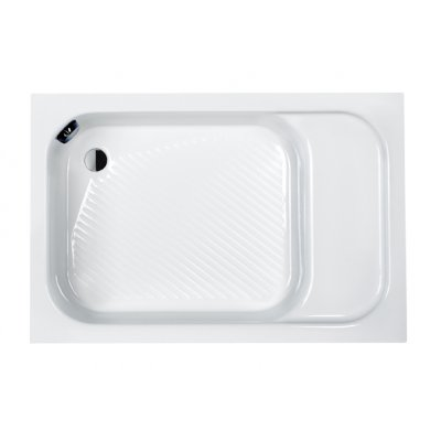 Sanplast Classic brodzik prostokątny 80x120 cm z siedziskiem Bzs/CL80x120x28+STB 615-010-0540-01-000