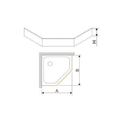 Sanplast obudowa do brodzika OBPK 100x100x9 cm 625-400-0840-01-000