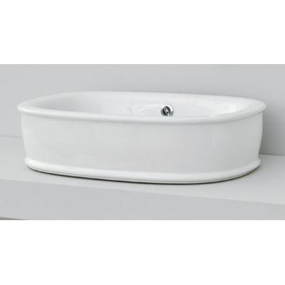 Art Ceram Azuley umywalka 65x45 cm nablatowa owalna biała AZL00201;00
