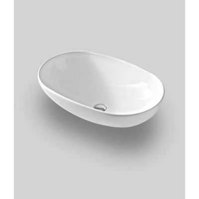 Art Ceram La Ciotola umywalka 70x42 cm nablatowa owalna biała LCL00201;00