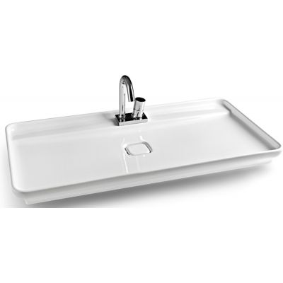 Art Ceram Lavabi umywalka 98x54 cm nablatowa prostokątna biała NAL00101;00